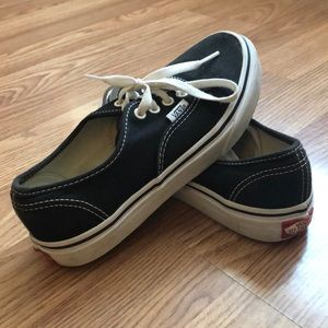 Vans Black Shoes SIZE 3 Youth
